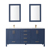Vinnova Bathroom Vanity 72'' Display View Blue