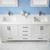 Vinnova Bathroom Vanity 72'' Lifestyle View Front White