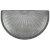 """WellnessMats Studio Semi Sunburst Collection 36"""" x 22"""" Anti-Fatigue Floor Mat in Silver Leaf, 36"""" W x 22"""" D x 3/4"""" Thick"""