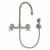 Gooseneck - Brushed Nickel - Cross Handles