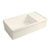 Whitehaus Biscuit Fireclay Sink w/ Integral Drain Board