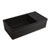 Whitehaus Black Fireclay Sink w/ Integral Drain Board