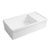 Whitehaus White Fireclay Sink w/ Integral Drain Board