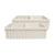 Whitehaus - Farmhaus Quatro Alove Reversible Double Bowl Fireclay Sink, Biscuit