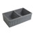 Fluted Sink in Matte Cement Display View 2