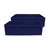 Whitehaus - Farmhaus Quatro Alove Reversible Double Bowl Fireclay Sink, Sapphire Blue