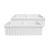 Whitehaus - Farmhaus Quatro Alove Reversible Double Bowl Fireclay Sink, White