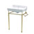 Single Hole Console in White/Polished Brass