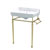 Widespread Console, Towel Bar in White/Polished Brass