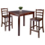 Winsome Wood Accent TableTable and Ladder Back Chairs 2
