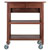 Winsome Woods Jonathan Portable Wooden Kitchen Cart in Walnut Finish